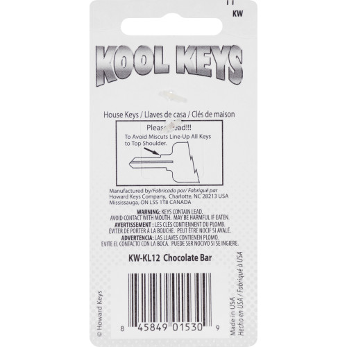 Kool Keys Chocolate Bar Key Blank Kwikset 66/97 KW1/10