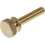 "Solid Brass Battery-Head Screw (#8-32 x 3/4"")"