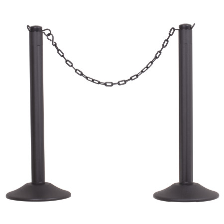 ChainBoss Stanchion - Black Empty with Black Chain 1