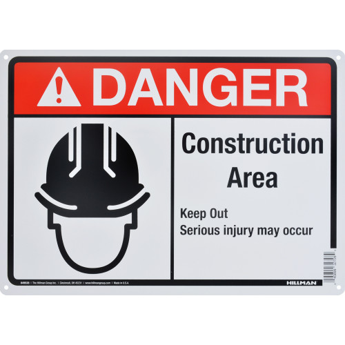 Danger Construction Area Sign (10