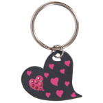 Pink Hearts Key Chain