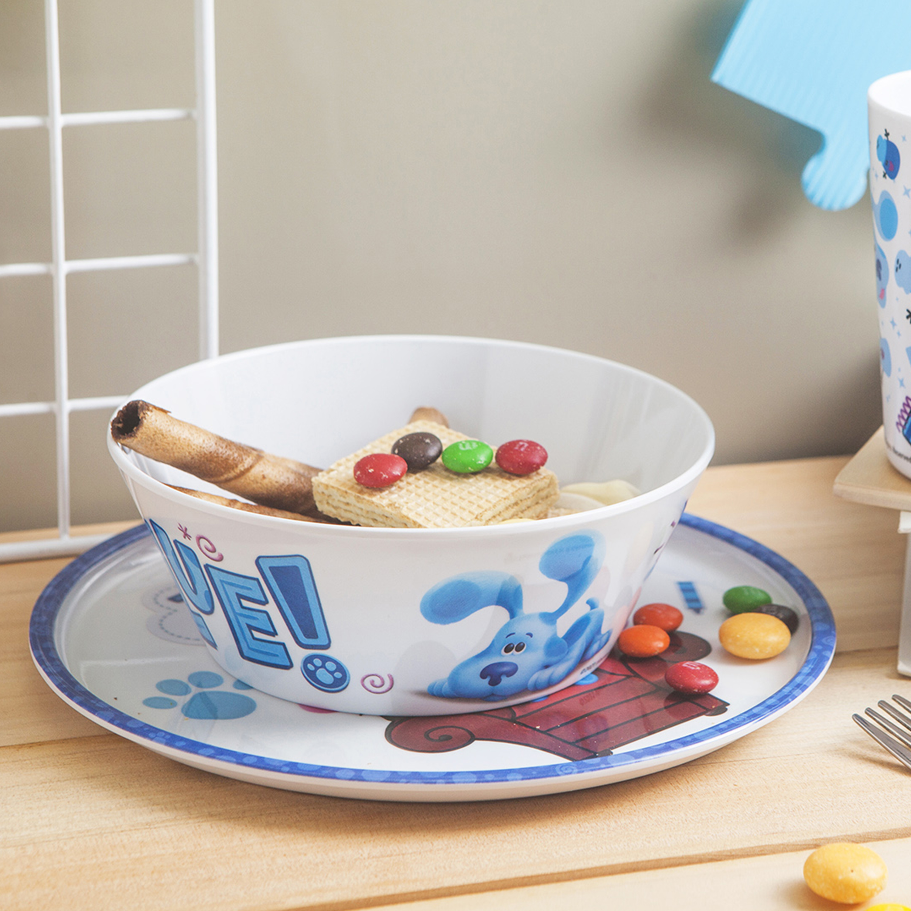 Blues Clues and You Kids Dinner Set, Blue and Friends, 5-piece set slideshow image 7