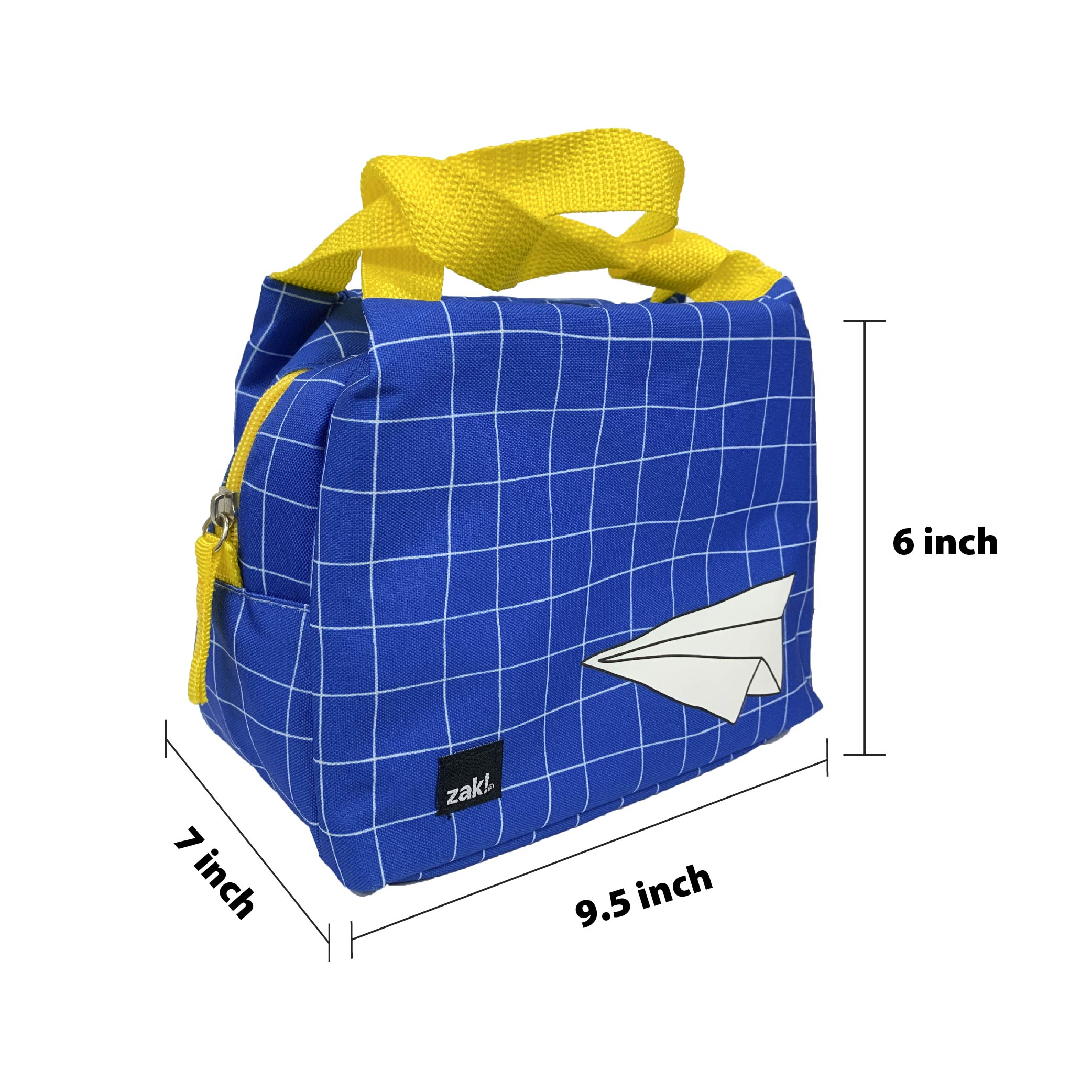 Grid Lock Purse Style Insulated Reusable Lunch Bag, Planes slideshow image 4