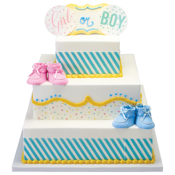 """Stacked 3-Tier Square 6"""", 10"""", 12"""" Cake Structure Set"""