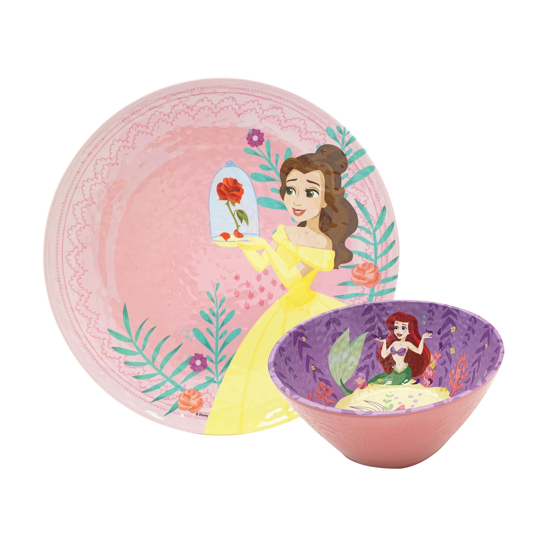 Disney Kids 9-inch Plate and 6-inch Bowl Set, Princess Belle, 2-piece set slideshow image 1
