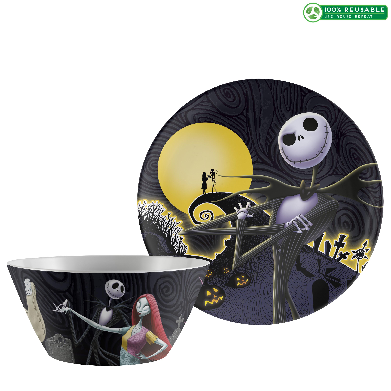 Disney The Nightmare Before Christmas Dinnerware Set, Jack & Sally, 2-piece set slideshow image 1