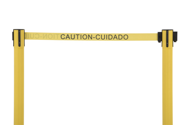 Sentry Stanchion - Yellow with 'Caution' belt 5