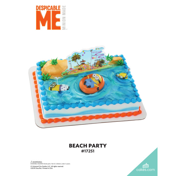 Despicable Me™ Beach Party DecoSet® The Magic of Cakes® Page