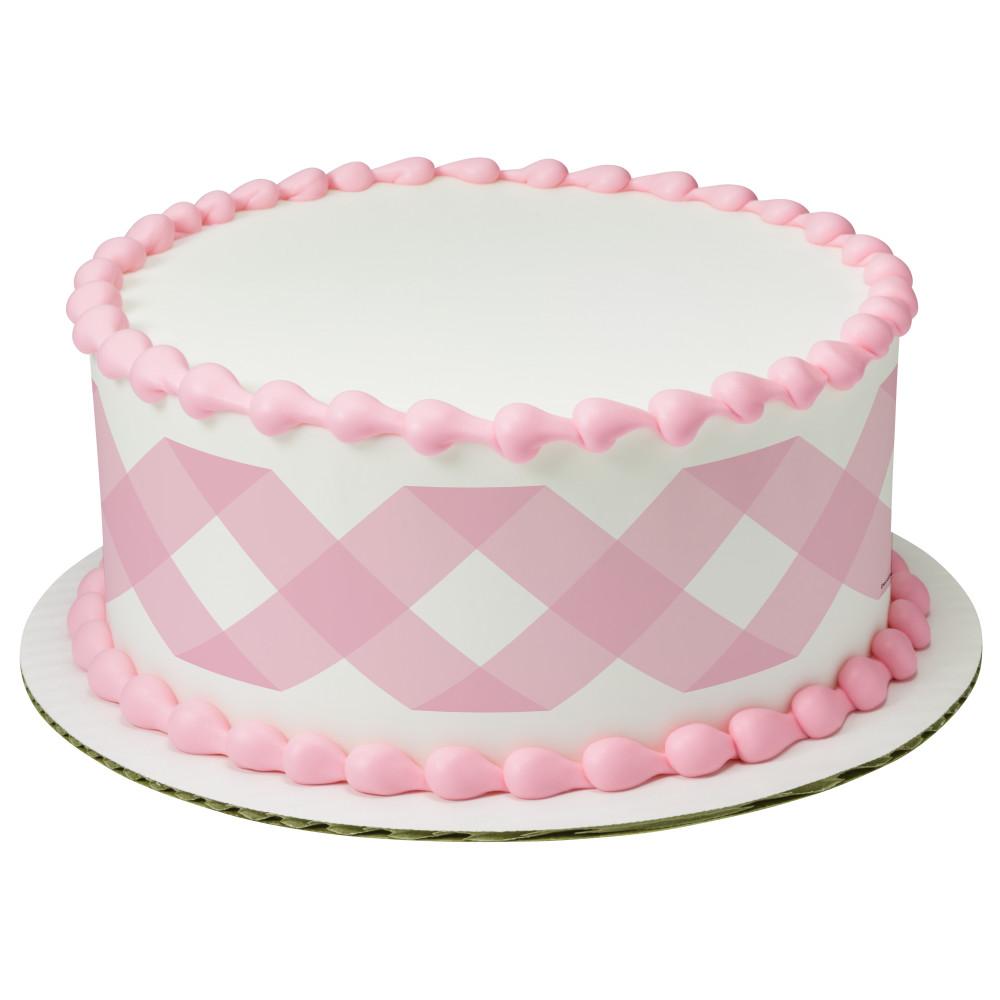Pastel Pink Gingham