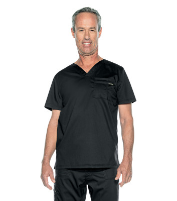 Landau ProFlex 2 Pocket Scrub Top for Men: Stretch, Modern Tailored Fit, V-Neck Medical Scrubs 4259-Landau