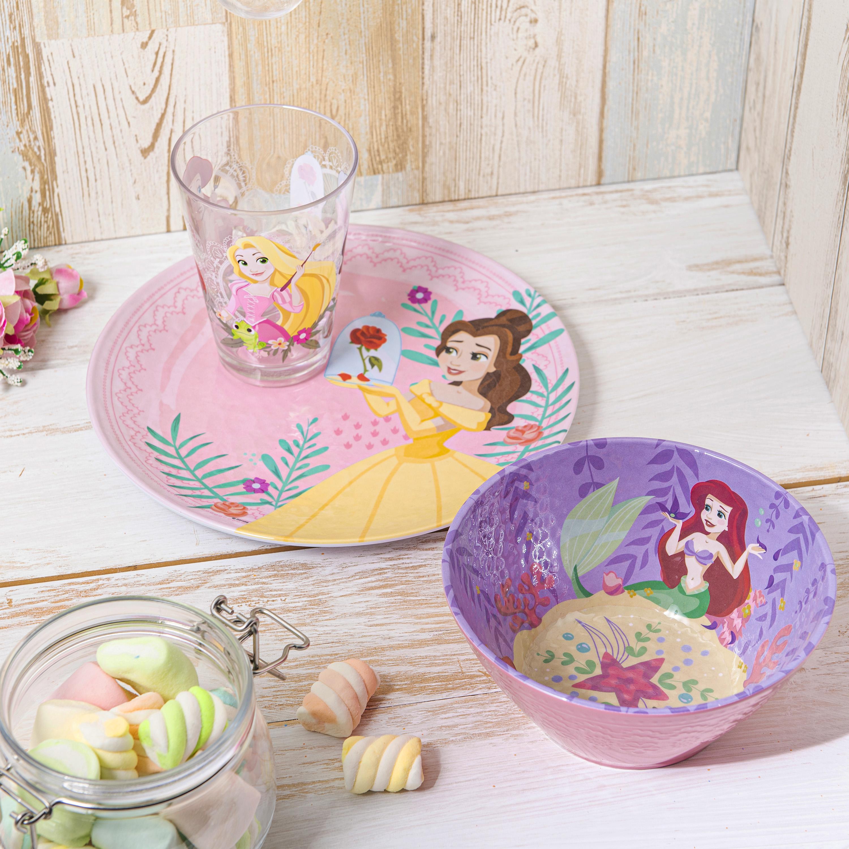 Disney Kids 9-inch Plate and 6-inch Bowl Set, Princess Belle, 2-piece set slideshow image 5