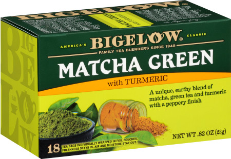 Matcha Green Tea with Turmeric - Case of 6 boxes - total of 108 teabags