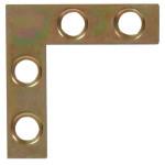 Hardware Essentials Zinc and Yellow Dichromate Flat Corner Iron
