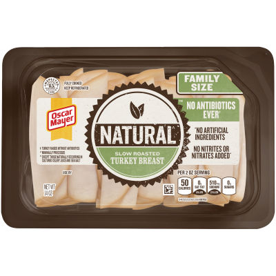 Oscar Mayer Natural Slow Roasted Turkey Breast 14 oz Tray