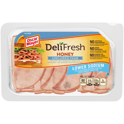 Oscar Mayer Deli Fresh Lower Sodium Honey Ham 8 oz Tray
