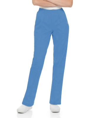 Landau Essentials 2 Pocket Scrub Pants for Women: Classic Relaxed Fit, Elastic Waist 8320-Landau