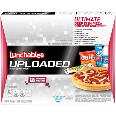 Lunchables Uploaded Ultimate Deep Dish Pepperoni Pizza Lunch Combination 4.7 oz Tray