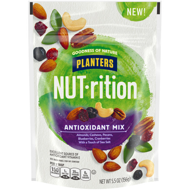 Planters Nutrition Snack Nut and Dried Fruit Mix Antioxidant 5.5 oz Bag