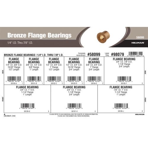 Bronze Flange Bearings Assortment (1/4