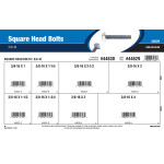 "Square Head Bolts Assortment (3/8""-16 Thread)"