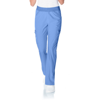 Urbane Performance 4 Pocket Yoga Waist Scrub Pant for Women: Modern Tailored Fit, Super Stretch Straight Leg Medical Scrubs 9251-Urbane