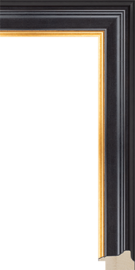 Hudson II Black and Gold 1 5/8