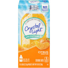 Crystal Light with Caffeine On-the-Go Citrus Drink Mix 10 - 0.09 oz Packets