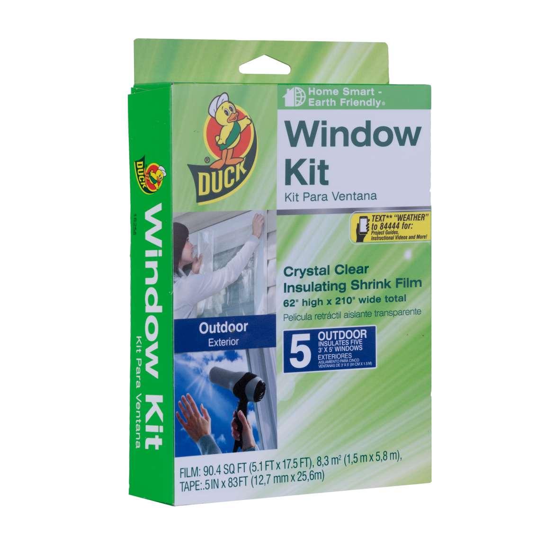 Outdoor Shrink Film Window Insulation Kit Image