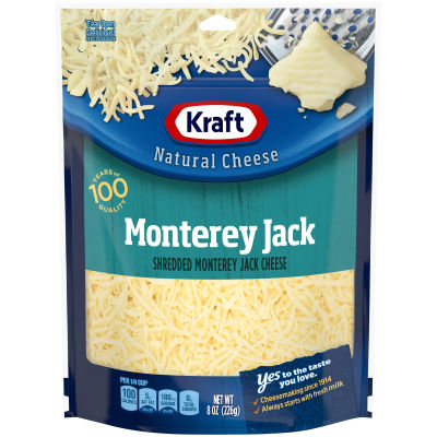 Kraft Monterey Jack Shredded Natural Cheese 8 oz Pouch