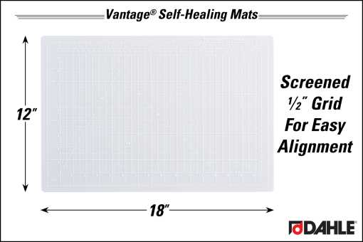 "Dahle Vantage® 12"" x 18"" Self-Healing Cutting Mat, Clear - InfoGraphic"