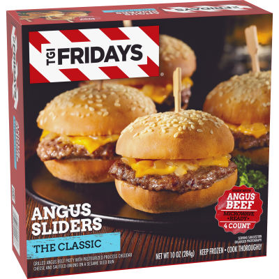 TGI Fridays The Classic Angus Sliders, 10 oz Box