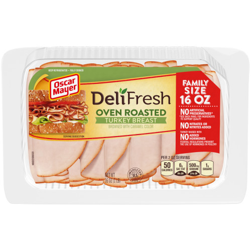 Oscar Mayer Deli Fresh Oven Roasted Turkey Breast 16 oz Tray