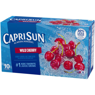 Capri Sun Wild Cherry Flavored Juice Drink Blend 10 - 6 fl oz Pouches