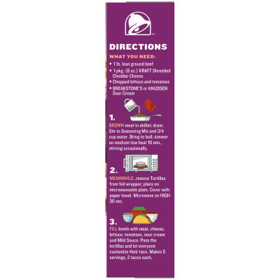 Taco Bell Soft Tortillas Taco Dinner Kit, 10 count Box