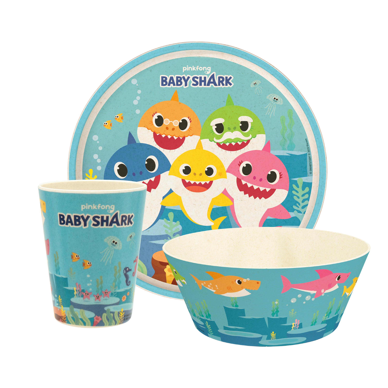 Pinkfong Kids 3-piece Dinnerware Set, Baby Shark, 3-piece set slideshow image 1