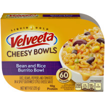 Kraft Velveeta Cheesy Bowls Bean & Rice Burrito Bowl 9 oz Tray
