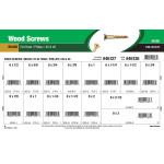 Flat-Head Phillips Brass Wood Screws Assortment (#6 & #8)