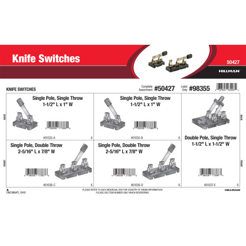 Knife Switches Assortment
