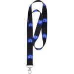 Blue Cross Neck Lanyard