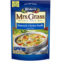 Wyler's Mrs. Grass Homestyle Chicken Noodle Hearty Soup Mix 5.93 oz Pouch image
