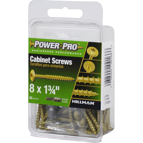 Power Pro Truss Head Star Drive Cabinet Screw #8 x 1-3/4