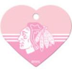 Chicago Blackhawks Large Heart Quick-Tag
