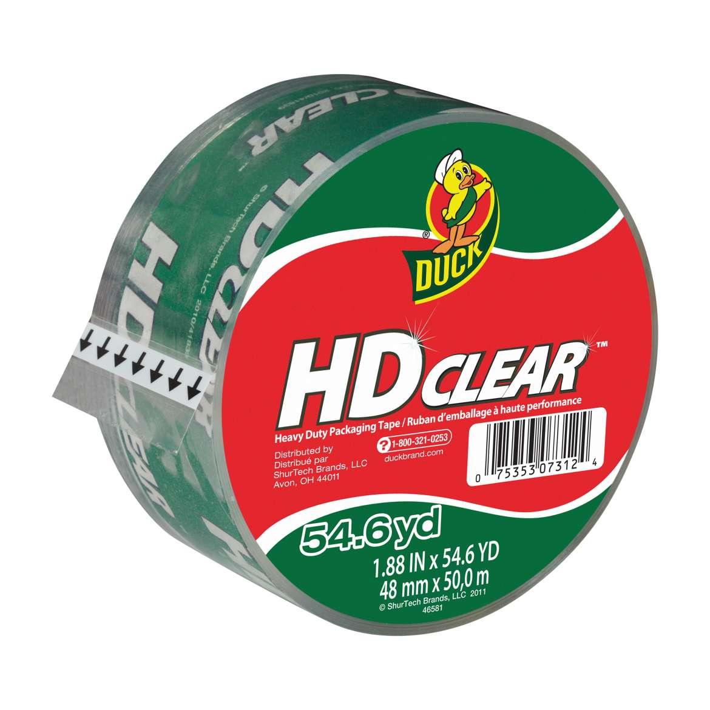 HD Clear™ Heavy Duty Packaging Tape - Clear, 1.88 in. x 54.6 yd. Image