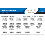Plastic Shelf Pins Assortment (Clear & White Finishes)