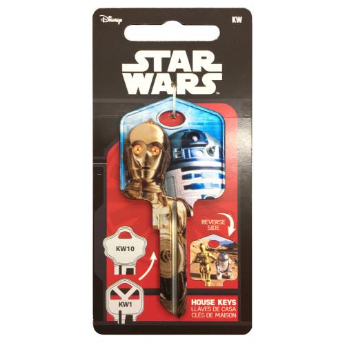 Star Wars C-3PO & R2-D2 Key Blank Kwikset 66/97 KW1/10