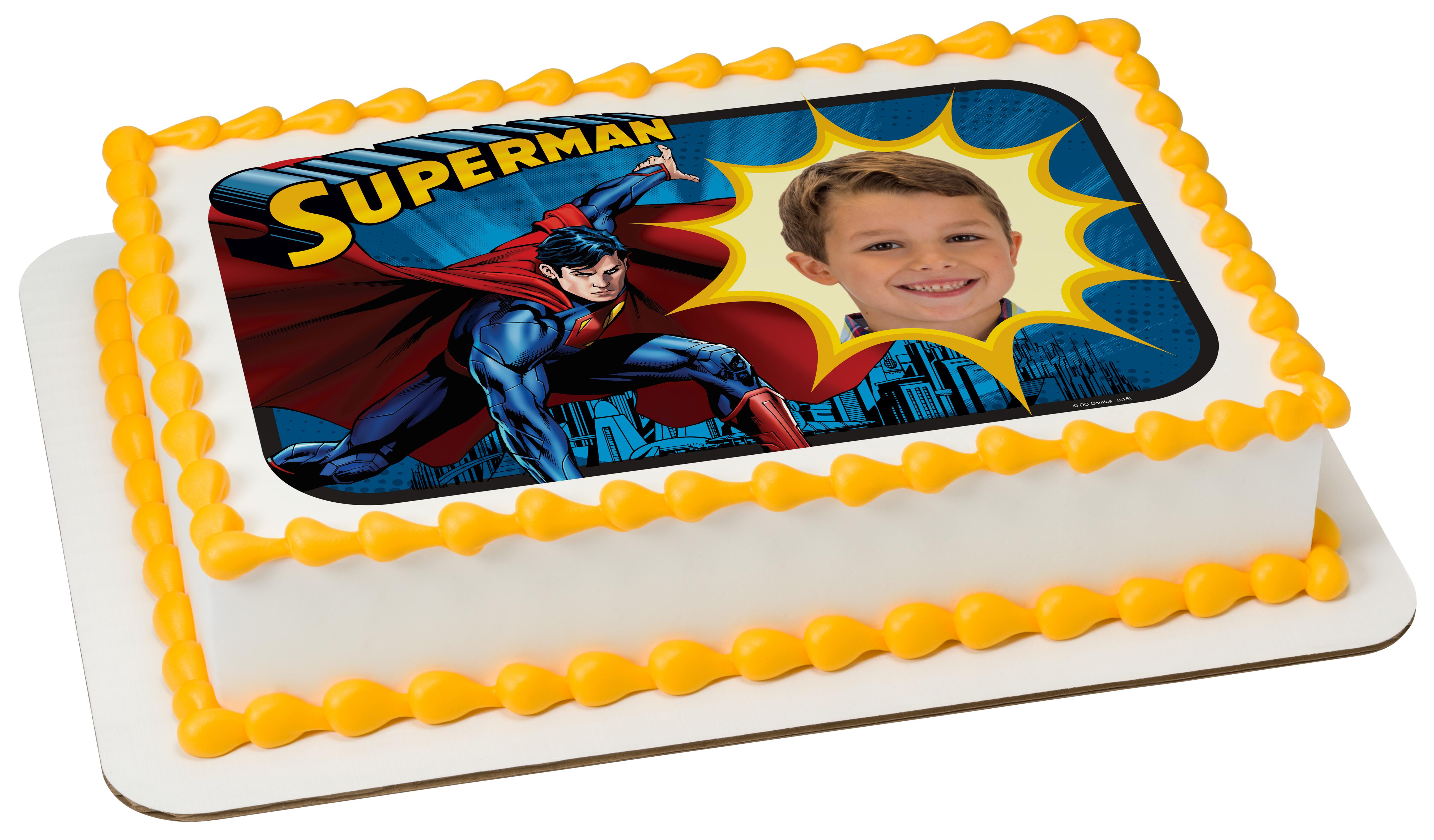 Superman Saves The Day Photocake 174 Edible Image 174 Frame