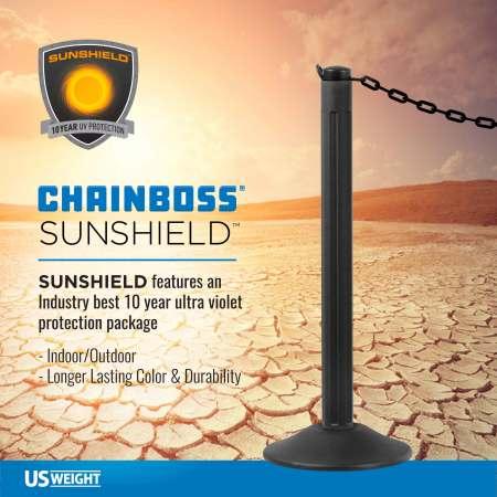 "Black 2"" Plastic Chain Ft. SunShield - 500' 2"