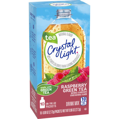 Crystal Light On-The-Go Raspberry Green Tea Drink Mix, 10 - 0.96 oz Packets