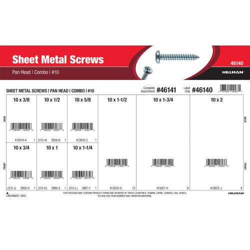 #10 Combo Pan-Head Sheet Metal Screws Assortment