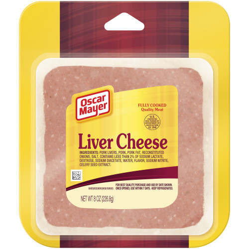 Oscar Mayer Liver Cheese Cold Cuts 8 oz